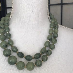 Jewelry - Twin Jade Green Necklaces